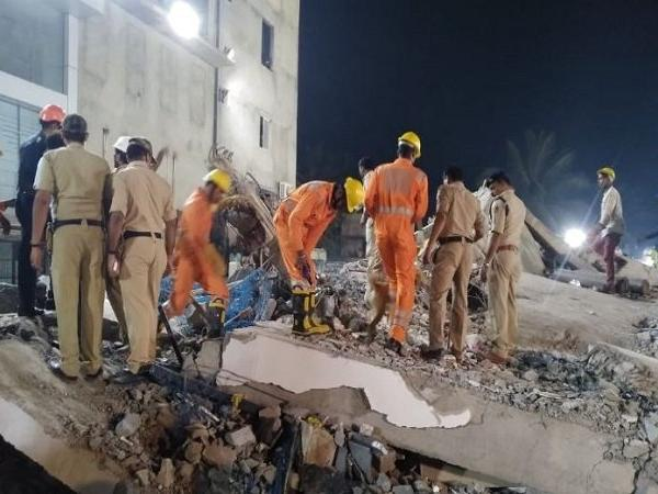 Dharwad building collapse: Death toll reaches seven, 54 rescued, 10 trapped under debris; rescue ops underway