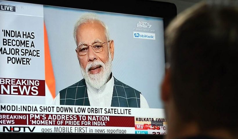 Indian PM Modi boasts success of anti-satellite missile launch ahead of election