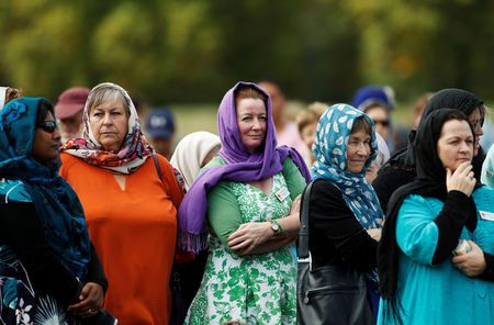 New Zealand marks one week since mosque attack with prayers, headscarves