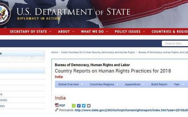 U.S. human rights report flags curbs on Indian media