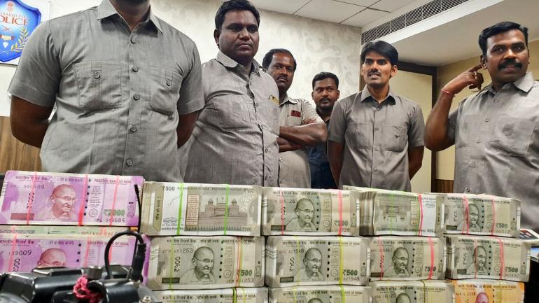 Rs 90 lakh unaccounted cash seized in Hyderabad