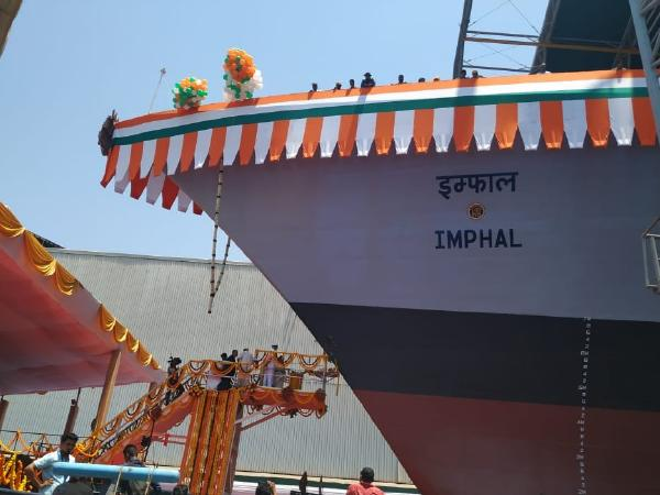 Guided missile destroyer Imphal under Project 15B launched