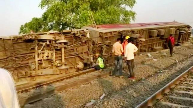 14 injured as 12 coaches of Delhi-bound train derails near Kanpur