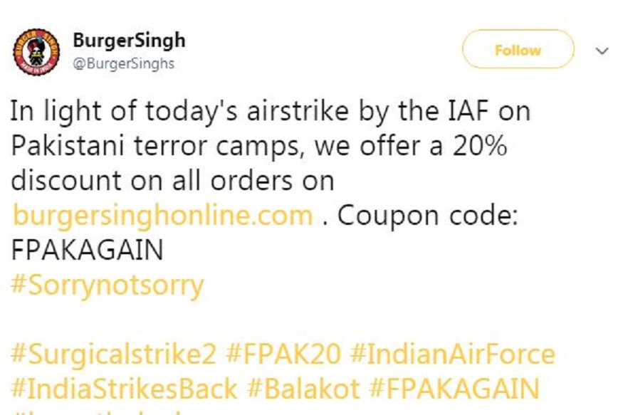 #SorryNotSorry: Indian Companies Trying to Make Quick Buck Off IAF Strike is Plain Crass