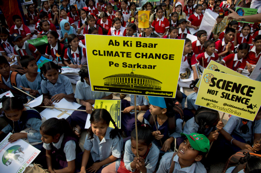 Students Across India Skip School in Support of Global Protest Demanding Climate Change Action
