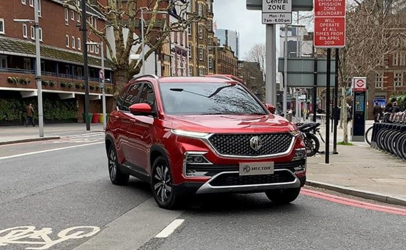 India-Bound MG Hector Spotted In London; SUV Fully Uncovered