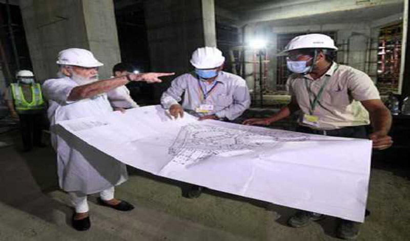 PM Narendra Modi inspects construction site of new Parliament building