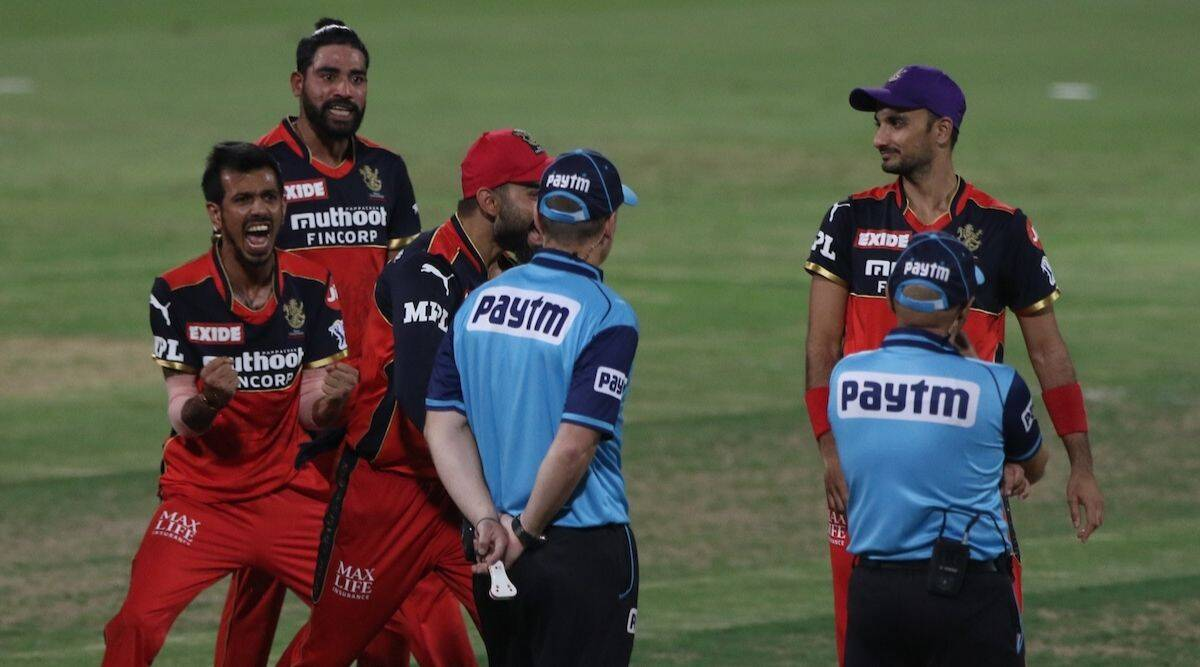RCB vs KKR: Shakib's pressure-easing four; Bharat fortunes dip and umpire Sharma labours towards wrong call